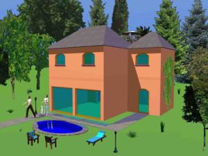 Haus Koellerbach / Bauweise: Schalungssteine