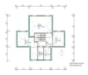 Haus Koellerbach Dachgeschoss / Bauweise: Schalungssteine