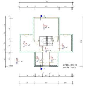 Haus Koellerbach Erdgeschoss / Bauweise: Schalungssteine