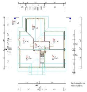 Haus Mandelbach Dachgeschoss / Bauweise: Schalungssteine