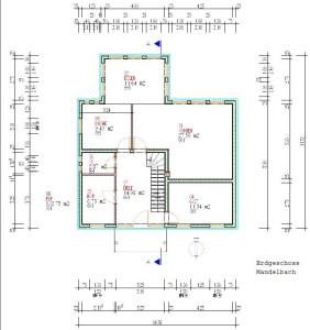Haus Mandelbach Erdgeschoss / Bauweise: Schalungssteine