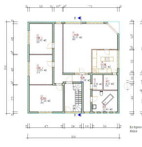 Haus Nahe Erdgeschoss / Bauweise: Schalungssteine