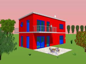 Haus Prims / Bauweise: Schalungssteine