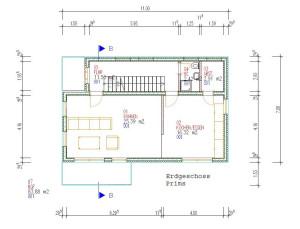 Haus Prims Erdgeschoss Haus Prims / Bauweise: Schalungssteine