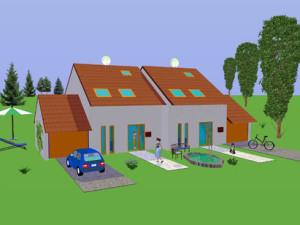 Haus Rossel / Bauweise: Schalungssteine