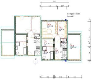 Haus Rossel erdgeshoss / Bauweise: Schalungssteine