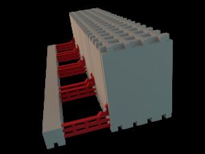 L-Element für Deckenrandschalung Schalstein / Schalungsstein