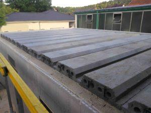 Styropordecke vor der Mattenverlegung und dem Betonieren